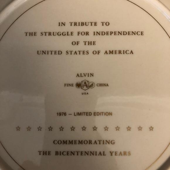 Vintage Alvin Fine China Bicentennial Porcelain Plate 1976 Limited Edition